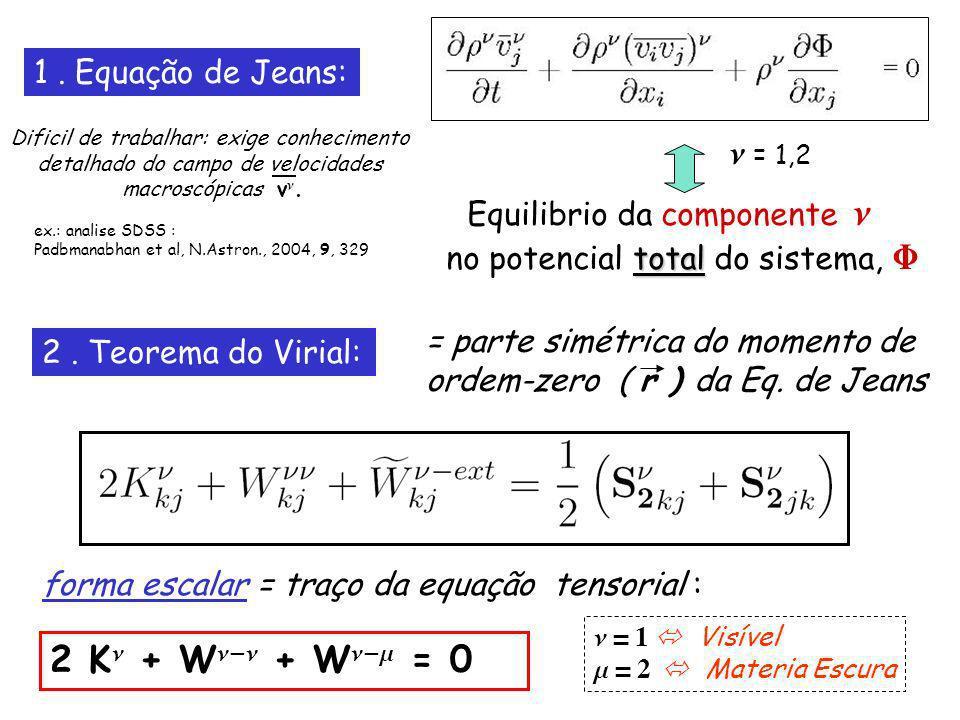 2. Teorema do Virial: = parte simétrica do momento de ordem-zero ( r ) da Eq.