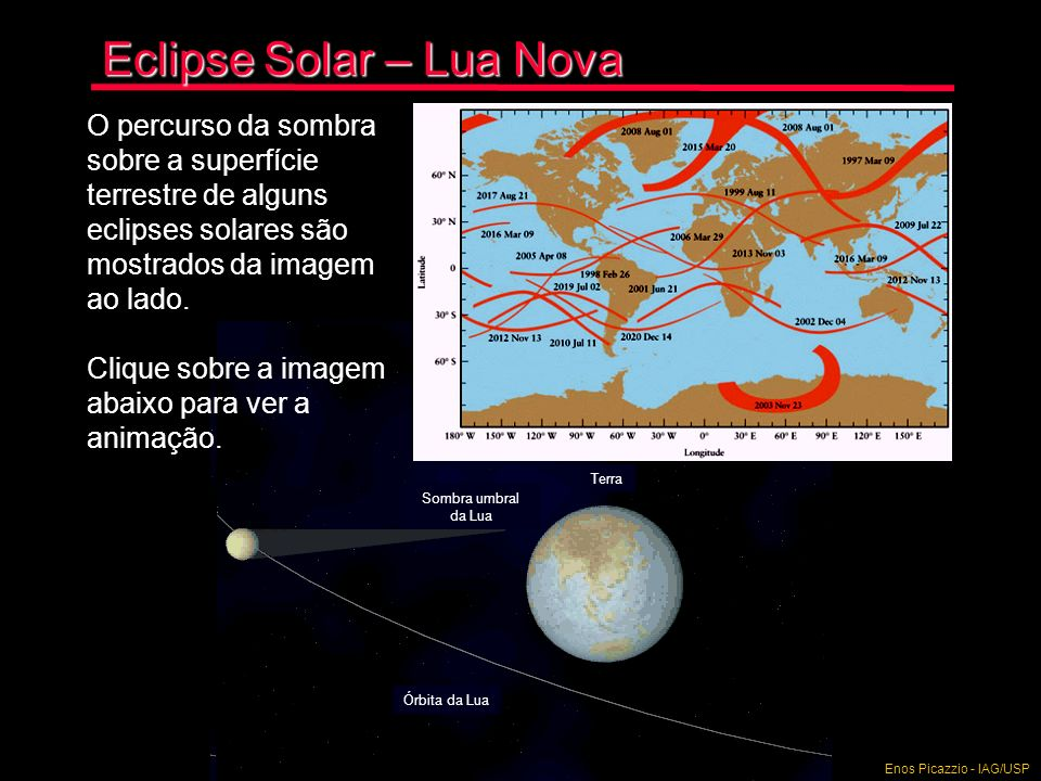 Eclipse Solar – Lua Nova Com o eclipse do disco solar (fotosfera), a atmosfera do Sol torna- se visível.