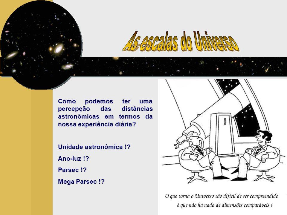A unidade astronômia (UA) representa a distância média da Terra ao Sol em sua órbita anual e é a base de medida de todas as distâncias astronômicas.