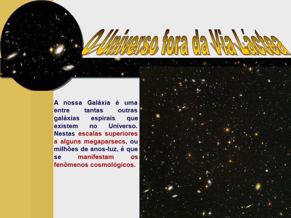 As galáxias mais distantes que podemos observar indicam que a estrutura do Universo é bastante homogênea em grandes escalas.
