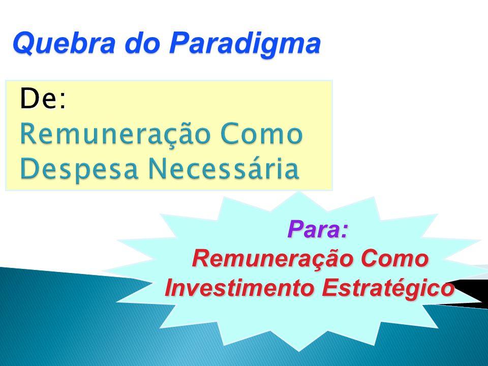 Para: Para: Remuneração Como Remuneração Como Investimento Estratégico Investimento Estratégico Quebra do Paradigma