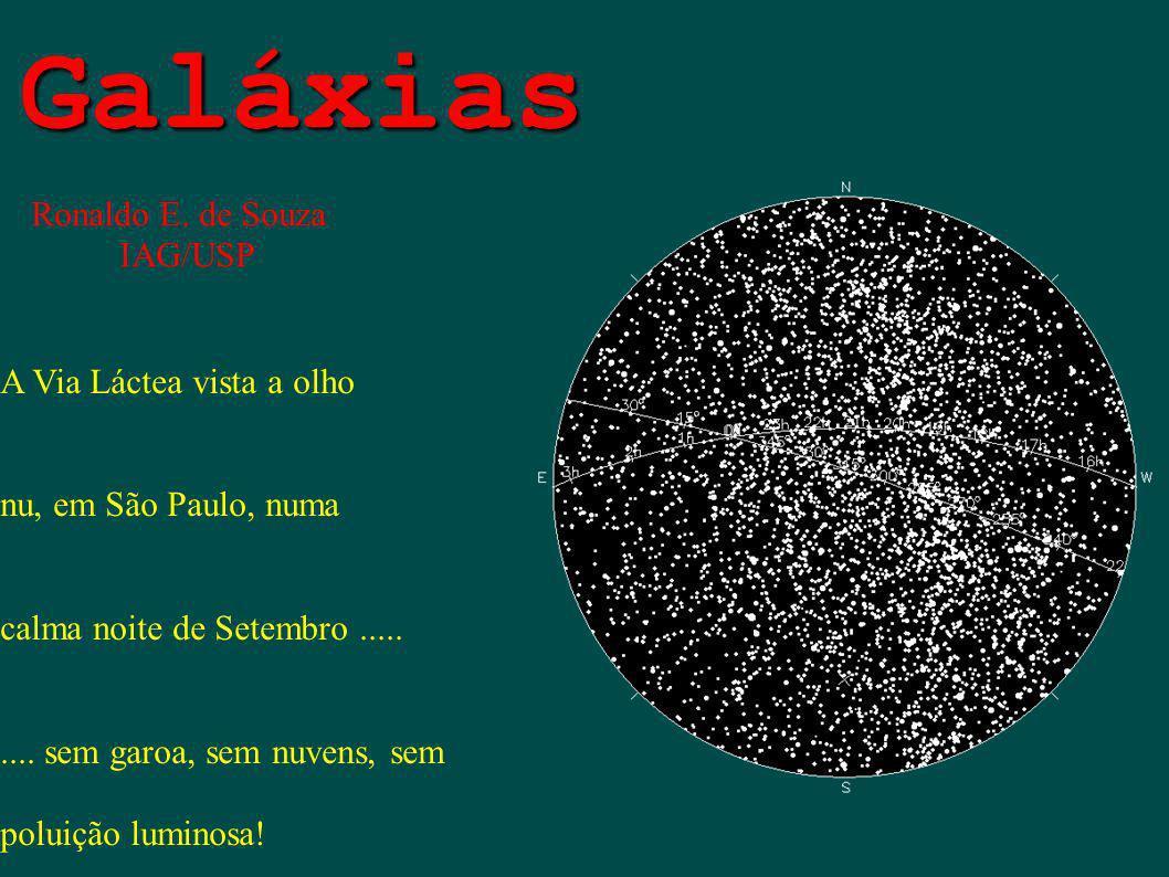 Galáxias A Via Láctea vista a olho nu, em São Paulo, numa calma noite de Setembro......... sem garoa, sem nuvens, sem poluição luminosa! Ronaldo E. de