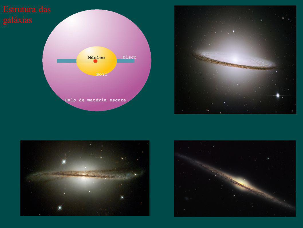 Na região central da maioria das galáxias espirais existem buracos negros massivos responsáveis pela atividade nuclear observada Via Láctea M ~ 1 Milhão – 1 Bilhao M BN O.