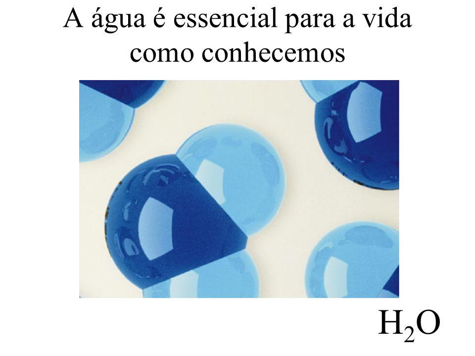 A água é essencial para a vida como conhecemos H2OH2O