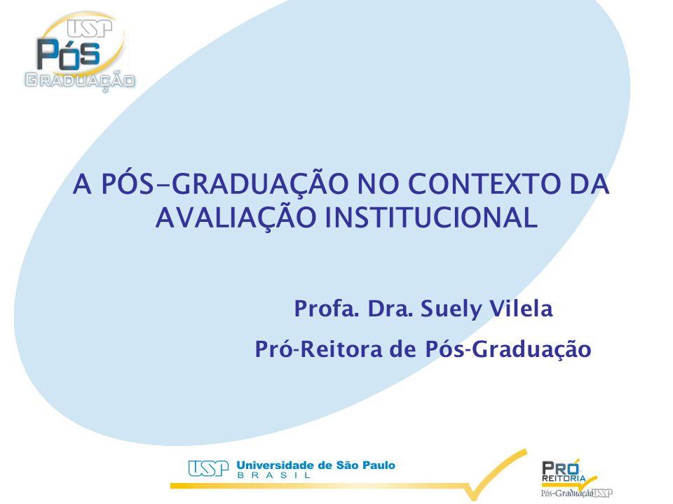 A PÓS-GRADUAÇÃO NO CONTEXTO DA AVALIAÇÃO INSTITUCIONAL Profa.
