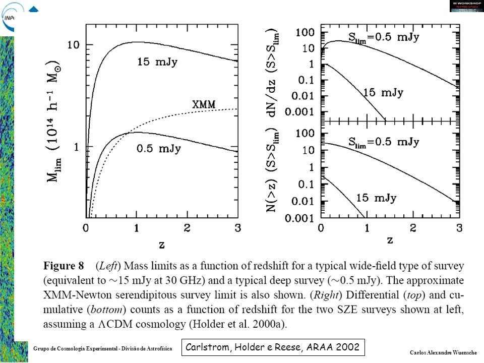 Carlos Alexandre Wuensche Grupo de Cosmologia Experimental - Divisão de Astrofísica Carlstrom, Holder e Reese, ARAA 2002