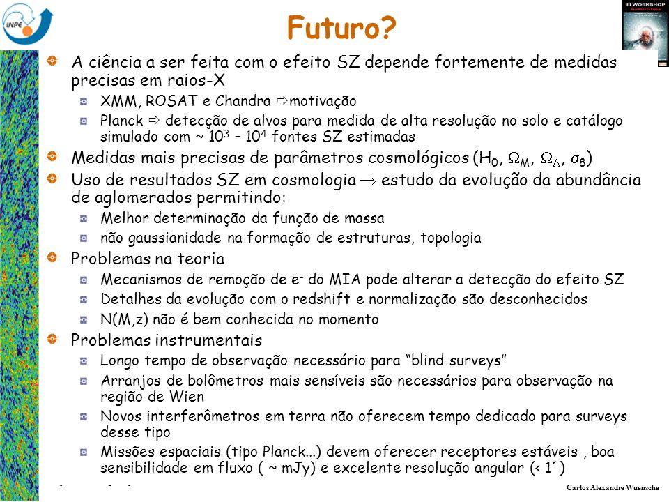 Carlos Alexandre Wuensche Grupo de Cosmologia Experimental - Divisão de Astrofísica Futuro? A ciência a ser feita com o efeito SZ depende fortemente d