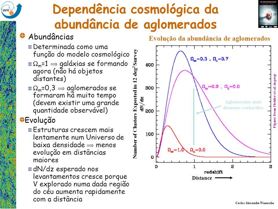 Carlos Alexandre Wuensche Grupo de Cosmologia Experimental - Divisão de Astrofísica Dependência cosmológica da abundância de aglomerados Abundâncias D