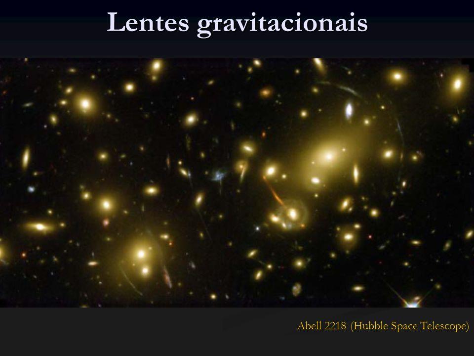ΛCDM em galáxias Problemas encontrados: Problemas encontrados: Distribuição de matéria centralmente concentrada Distribuição de matéria centralmente concentrada Discos de galáxias menores do que o observado Discos de galáxias menores do que o observado Elevado número de galáxias satélites anãs, grande número de subestruturas que não são observadas Elevado número de galáxias satélites anãs, grande número de subestruturas que não são observadas Bárions na forma de um gás frio condensado poderiam ajudar a resolver estes problemas.