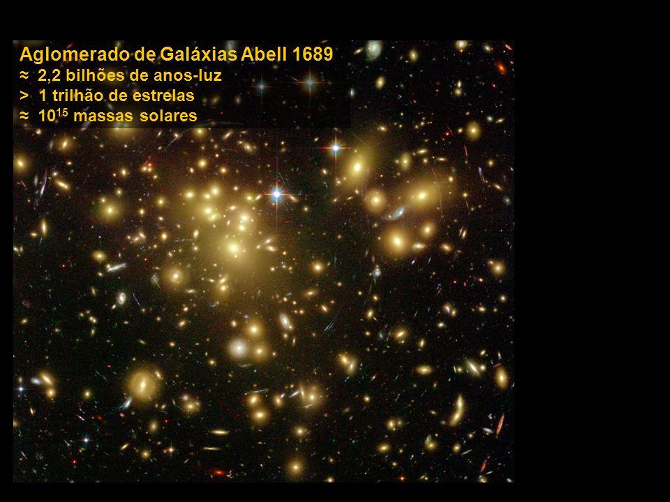 Aglomerado de Galáxias Abell 1689 2,2 bilhões de anos-luz > 1 trilhão de estrelas 10 15 massas solares