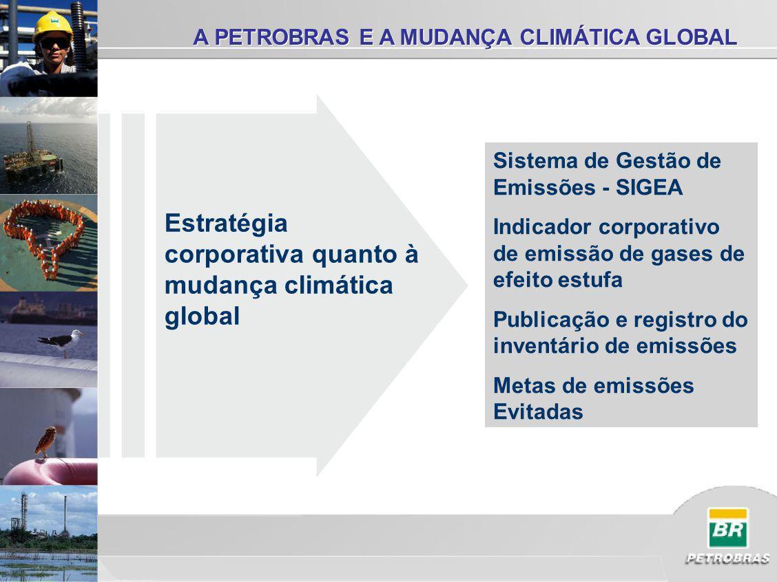 Início: setembro 2002 Gases de efeito estufa, poluentes atmosféricos e consumo de combustível Cobrindo inicialmente 20.000, podendo atingir 500.000 fontes Abrangendo em torno de 750 instalações Mais de 700 pessoas receberam treinamento específico para o SIGEA Investimento: R$ 6,8 milhões (até 2005) SISTEMA DE GESTÃO DE EMISSÕES ATMOSF É RICAS - SIGEA O SIGEA cobre todas as operações controladas pela Companhia no Brasil e no exterior