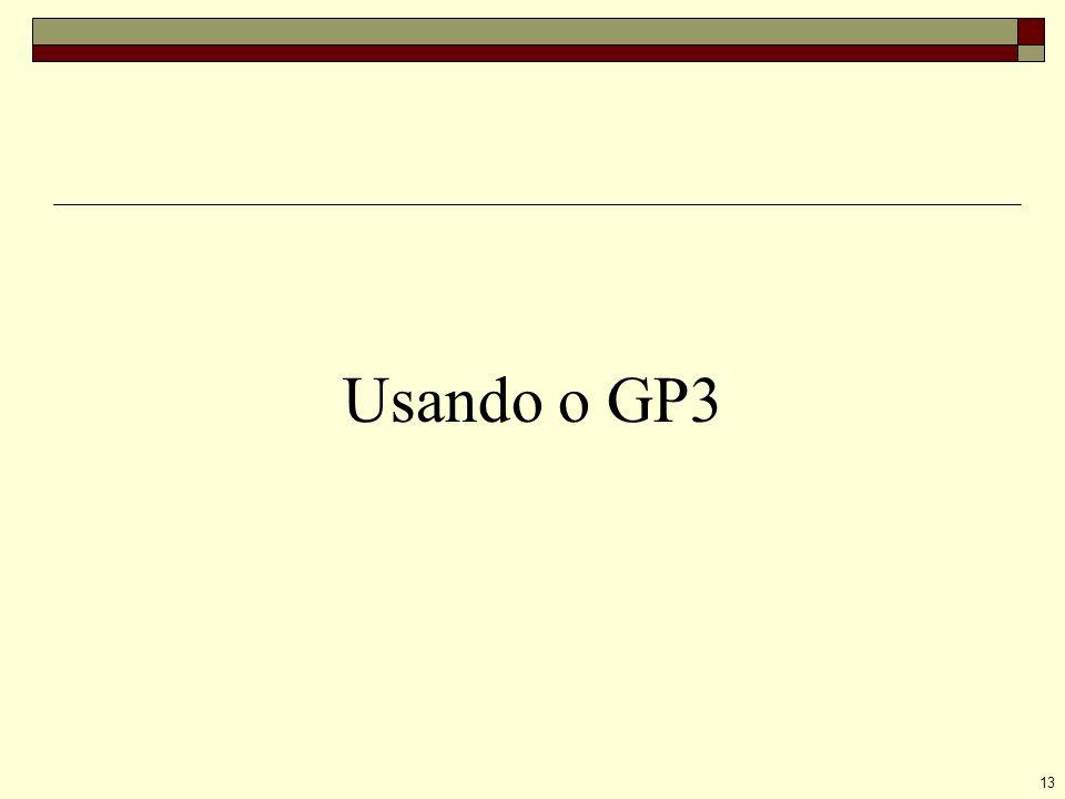 13 Usando o GP3
