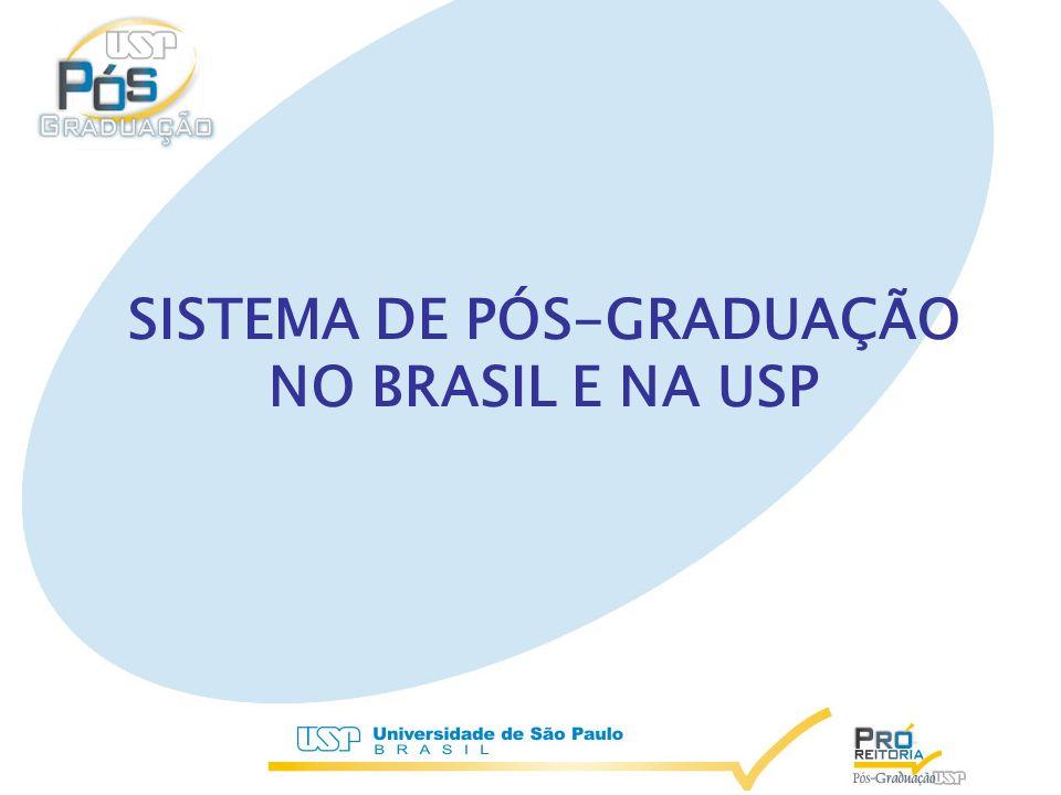 PÓS-GRADUAÇÃO BRASILEIRA Criada 1965 (Parecer 977/65) USP – 1969 (Portaria GR 885)