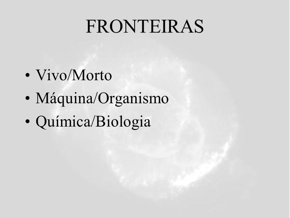 FRONTEIRAS Vivo/Morto Máquina/Organismo Química/Biologia