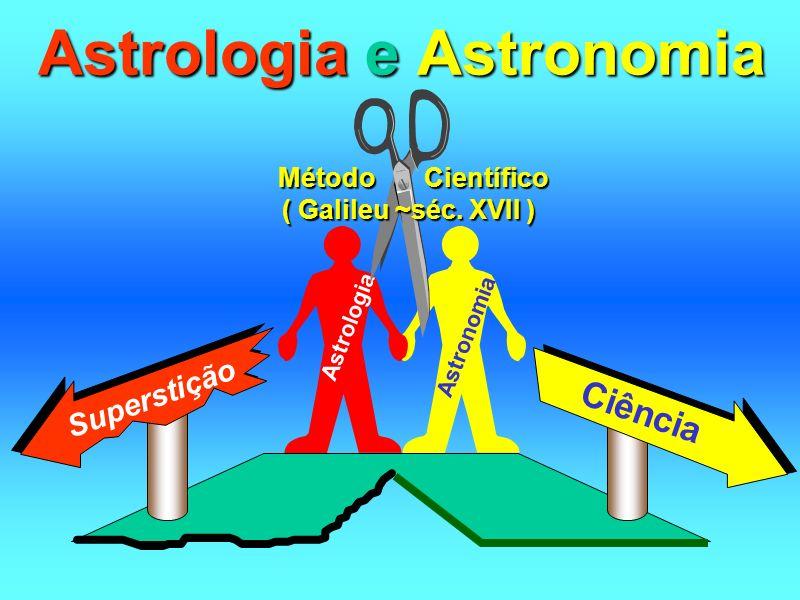 Astrologia e Astronomia Astronomia Astrologia Método Científico ( Galileu ~séc. XVII ) Superstição Ciência