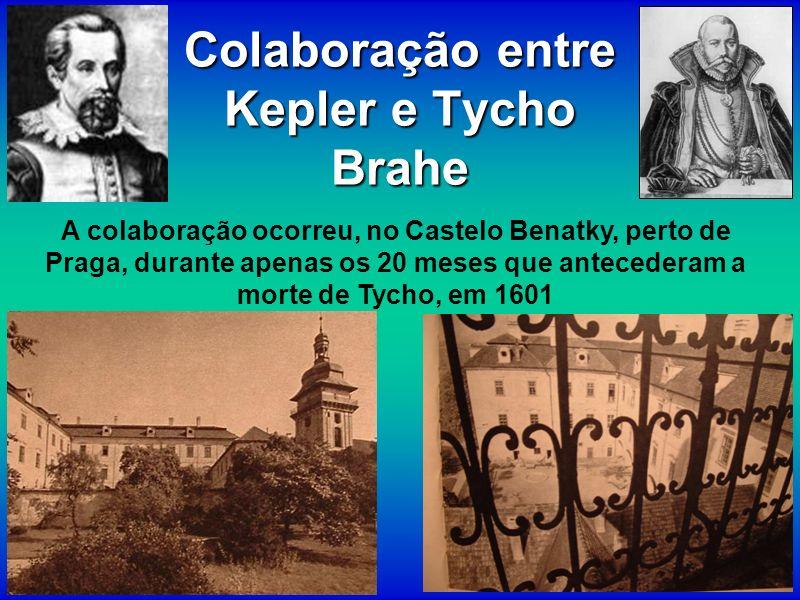 Colaboração entre Kepler e Tycho Brahe A colaboração ocorreu, no Castelo Benatky, perto de Praga, durante apenas os 20 meses que antecederam a morte d