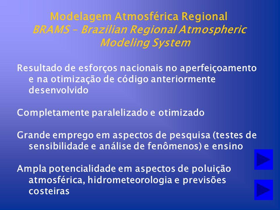 Modelagem Atmosférica Regional BRAMS – Brazilian Regional Atmospheric Modeling System Resultado de esforços nacionais no aperfeiçoamento e na otimizaç