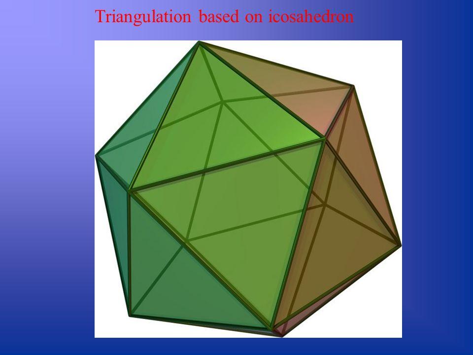 Triangulation based on icosahedron