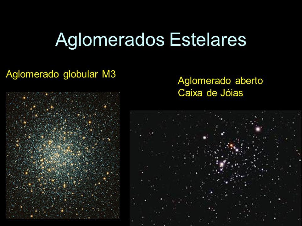 Aglomerados Estelares Aglomerado globular M3 Aglomerado aberto Caixa de Jóias