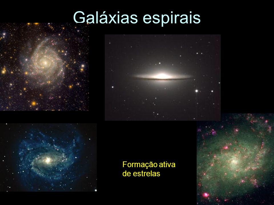 Galáxias espirais Formação ativa de estrelas