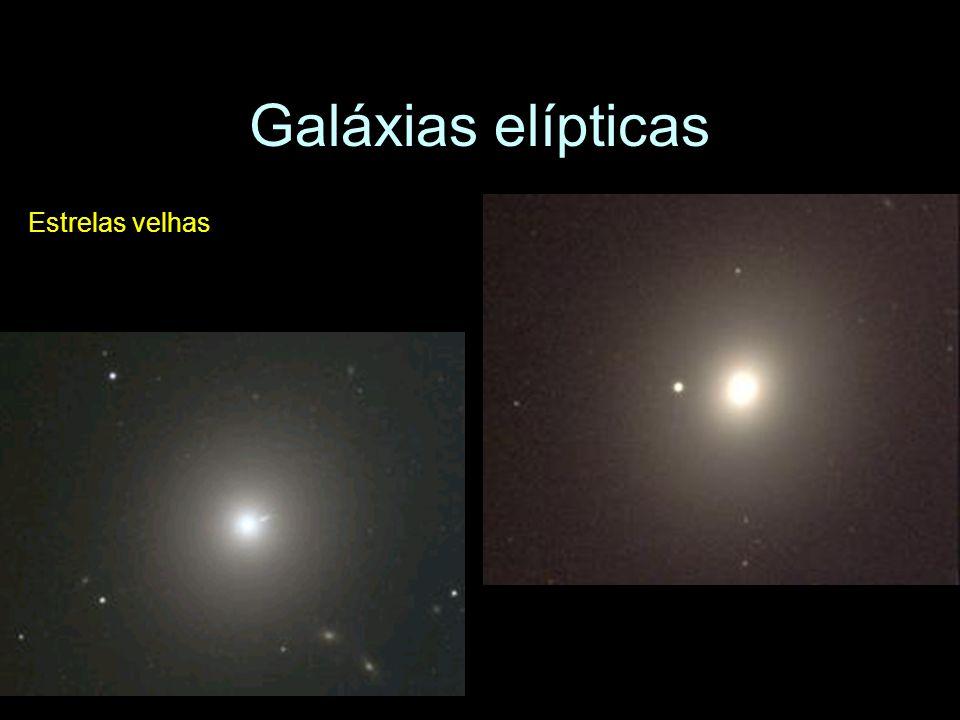 Galáxias elípticas Estrelas velhas