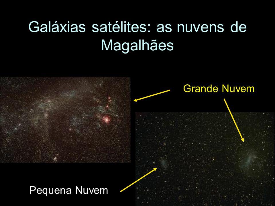 Galáxias satélites: as nuvens de Magalhães Grande Nuvem Pequena Nuvem