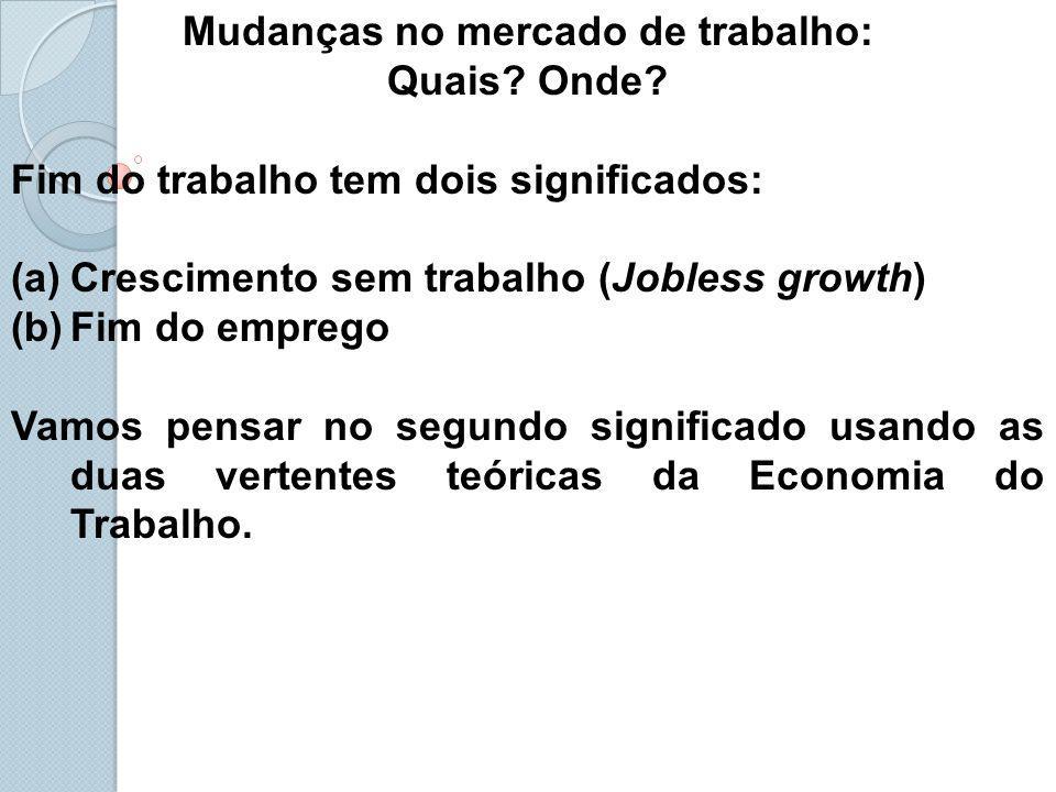 Mudanças no mercado de trabalho: Quais.Onde.