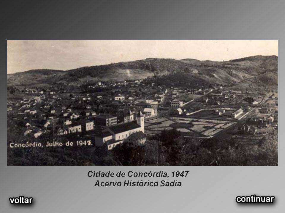 Cidade de Concórdia, 1947 Acervo Histórico Sadia