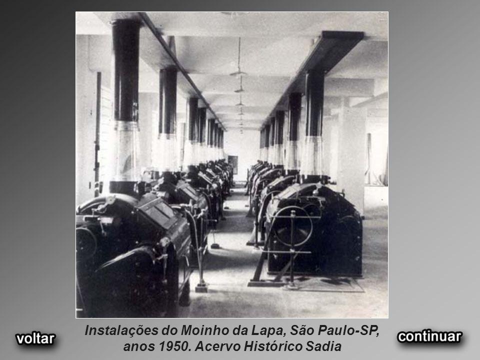 Instalações do Moinho da Lapa, São Paulo-SP, anos 1950. Acervo Histórico Sadia