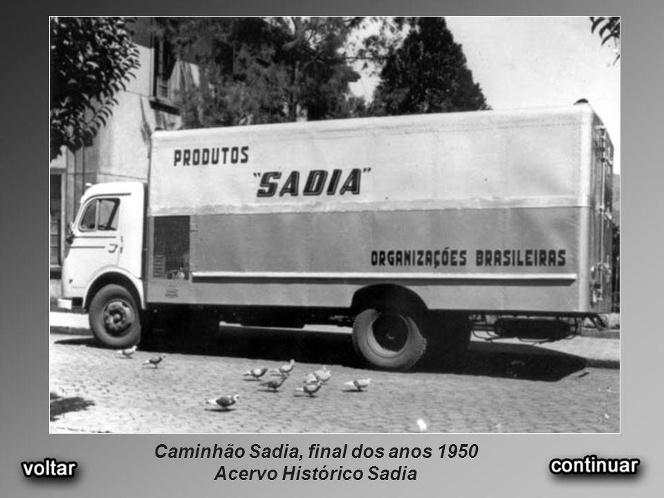Caminhão Sadia, final dos anos 1950 Acervo Histórico Sadia