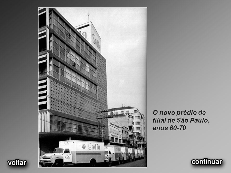 O novo prédio da filial de São Paulo, anos 60-70