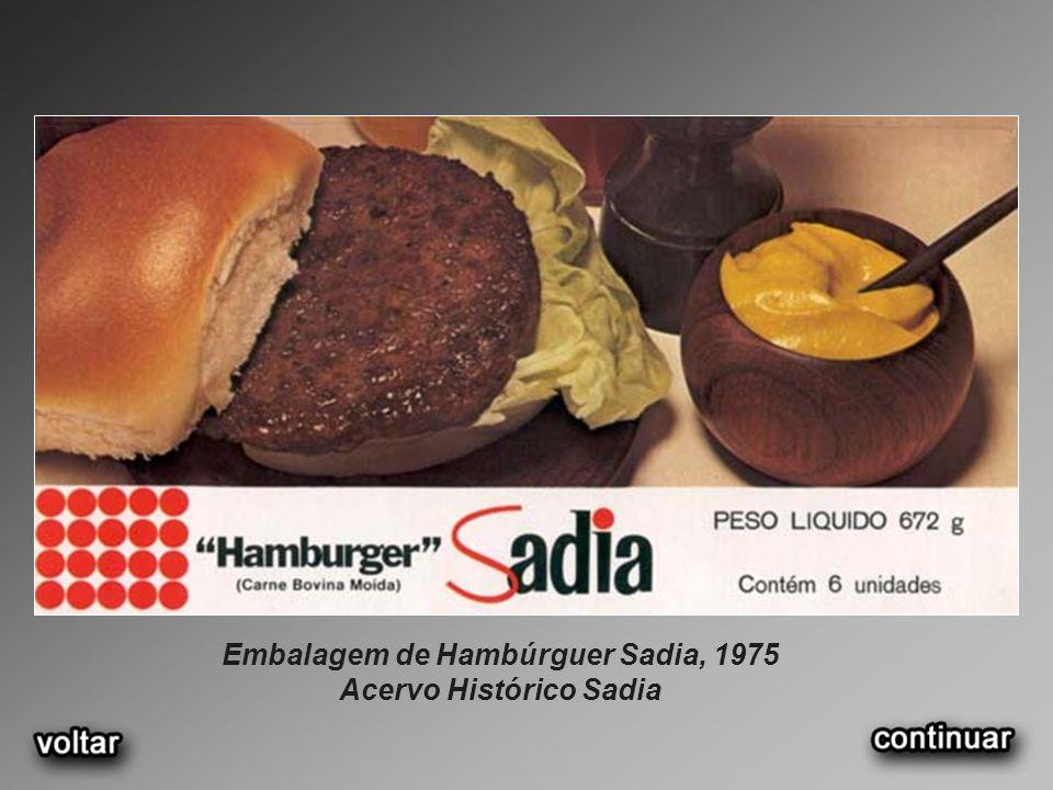 Embalagem de Hambúrguer Sadia, 1975 Acervo Histórico Sadia