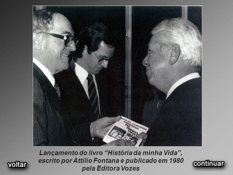 Lançamento do livro História da minha Vida, escrito por Attilio Fontana e publicado em 1980 pela Editora Vozes