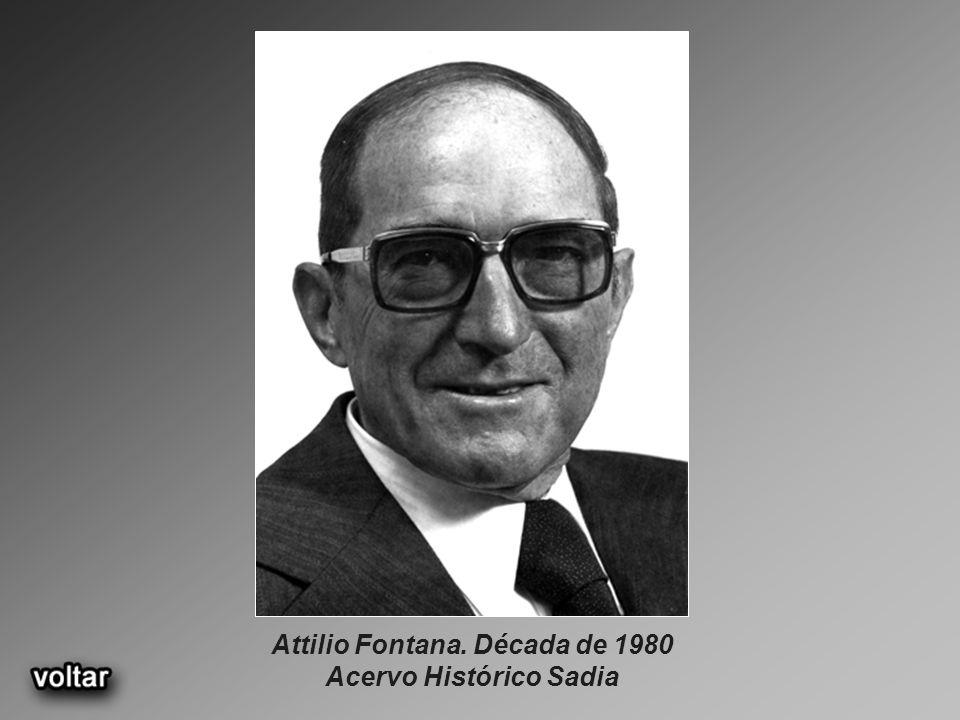 Attilio Fontana. Década de 1980 Acervo Histórico Sadia