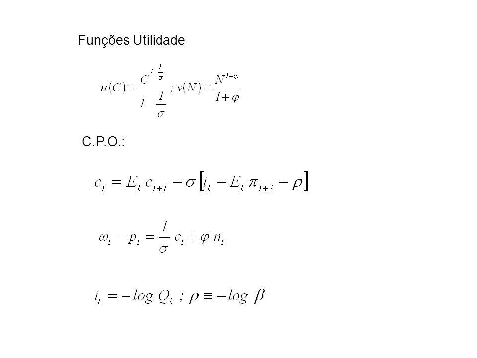 Funções Utilidade C.P.O.: