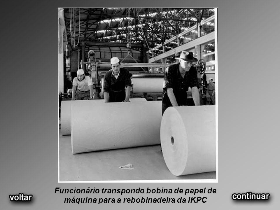 Vista panorâmica da fábrica Indústrias Klabin de Papel e Celulose – IKPC, 1957
