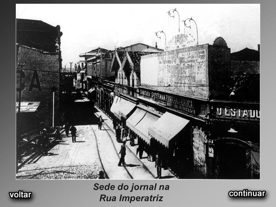 Sede do jornal na Rua Imperatriz