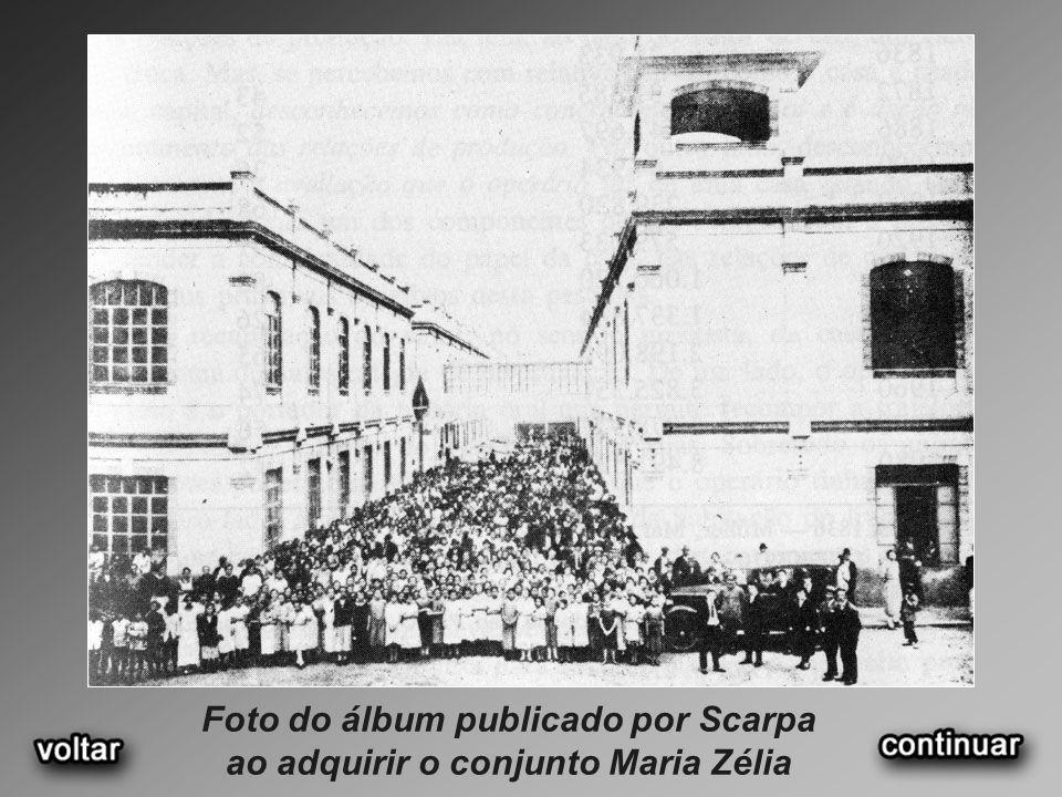 Foto do álbum publicado por Scarpa ao adquirir o conjunto Maria Zélia