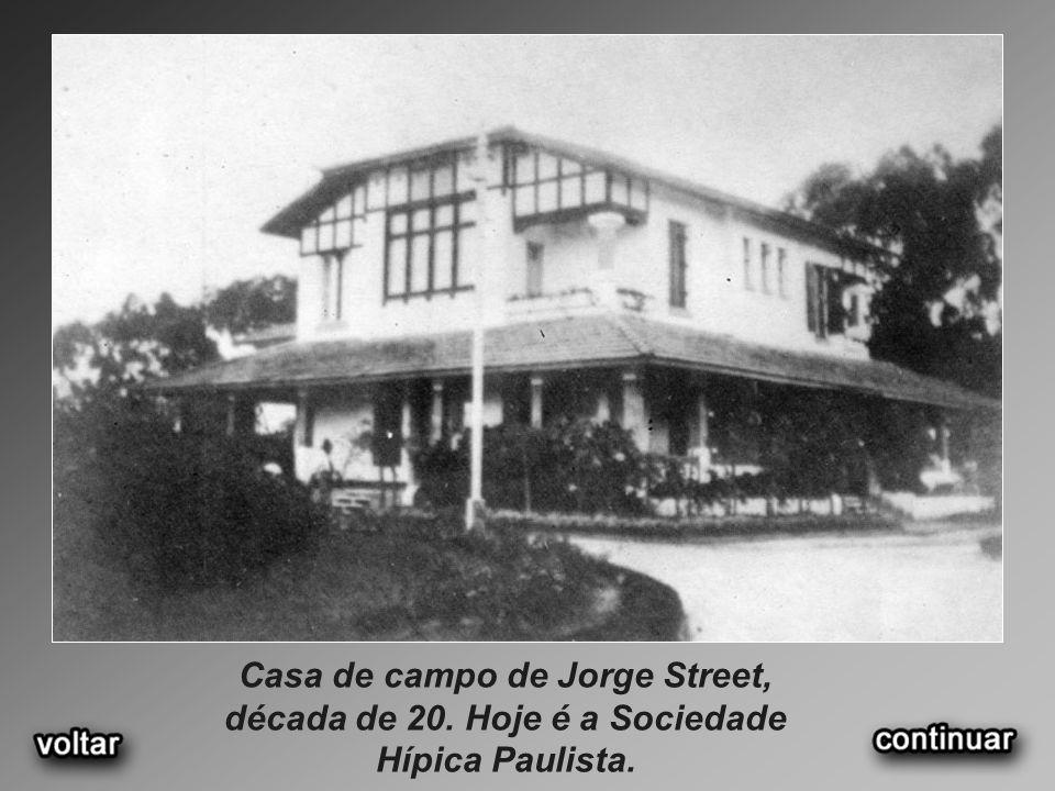 Casa de campo de Jorge Street, década de 20. Hoje é a Sociedade Hípica Paulista.