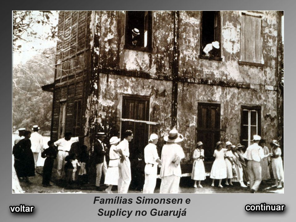 Famílias Simonsen e Suplicy no Guarujá