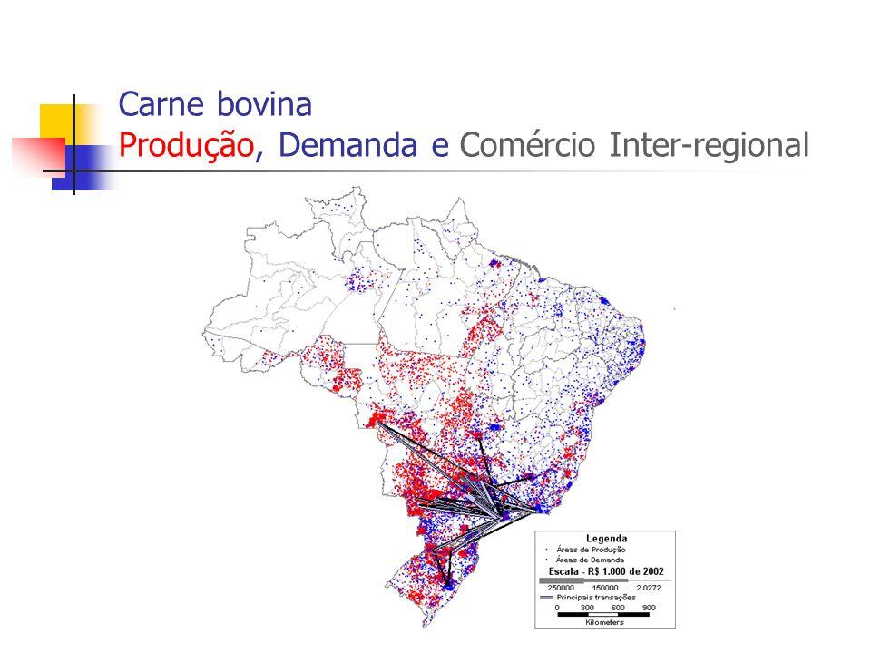 Algodão Produção, Demanda e Comércio Inter-regional