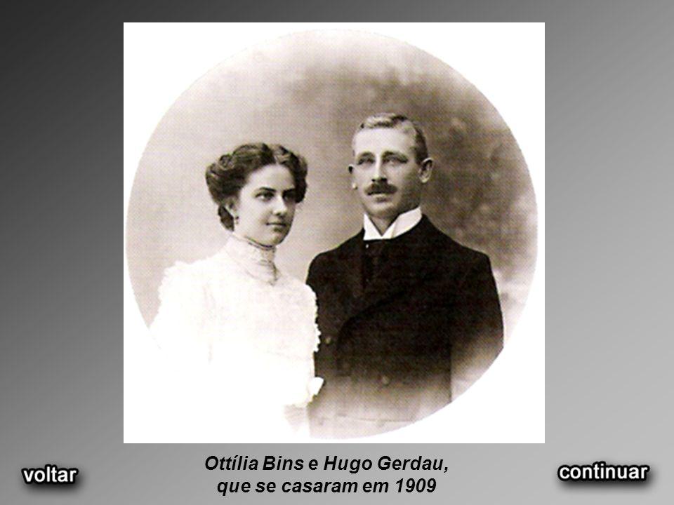 Ottília Bins e Hugo Gerdau, que se casaram em 1909