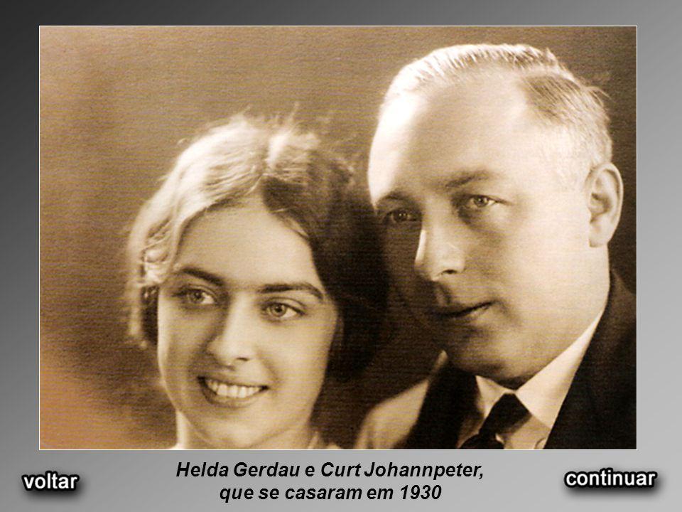 Helda Gerdau e Curt Johannpeter, que se casaram em 1930