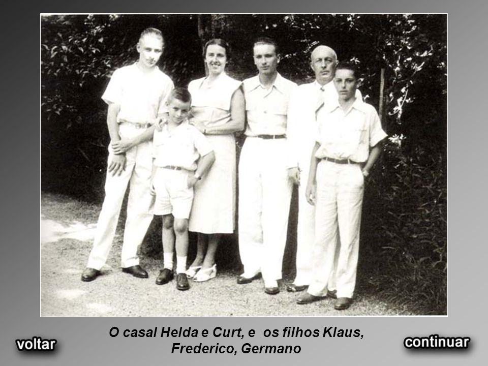 O casal Helda e Curt, e os filhos Klaus, Frederico, Germano