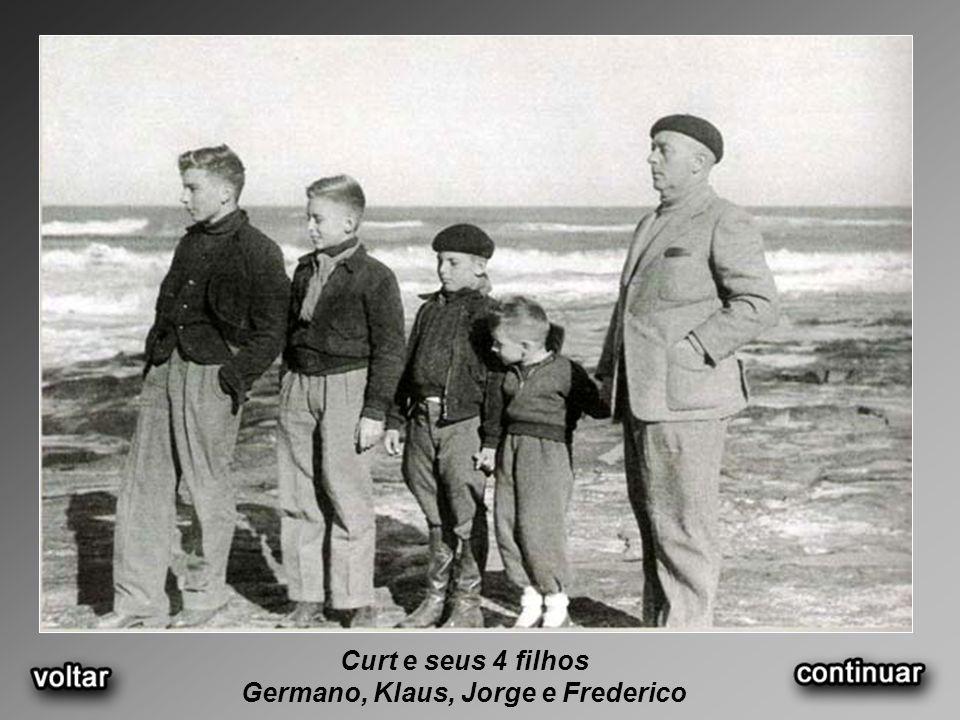 Curt e seus 4 filhos Germano, Klaus, Jorge e Frederico