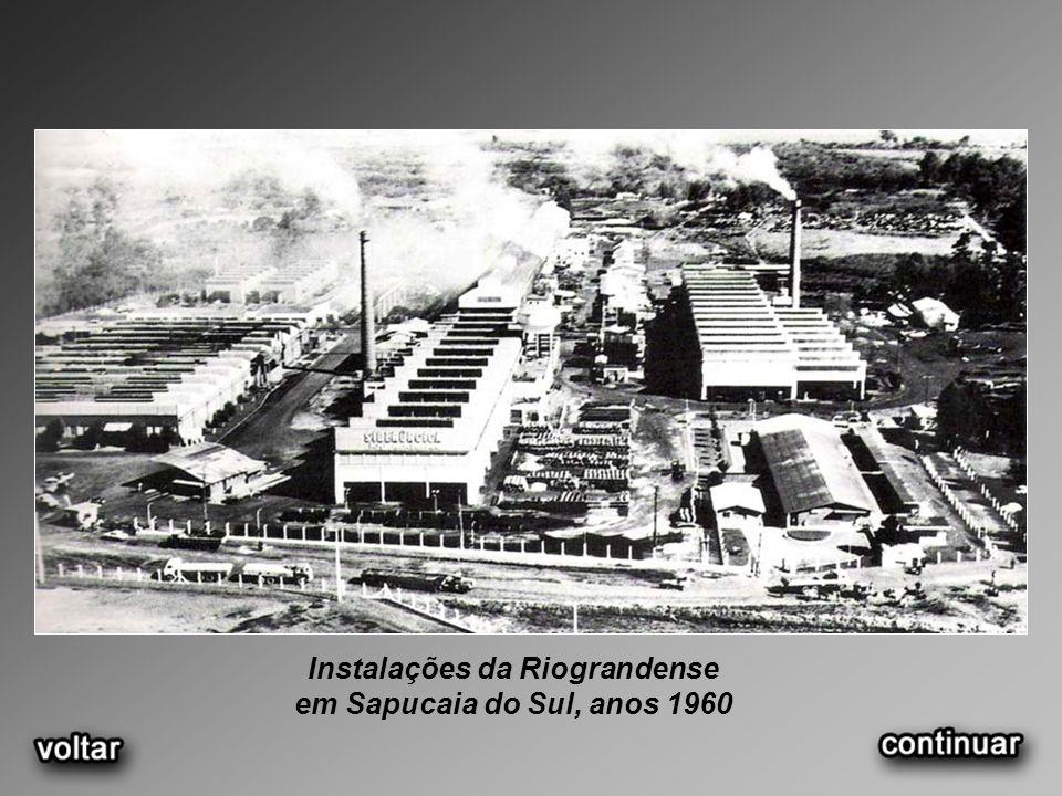 Instalações da Riograndense em Sapucaia do Sul, anos 1960