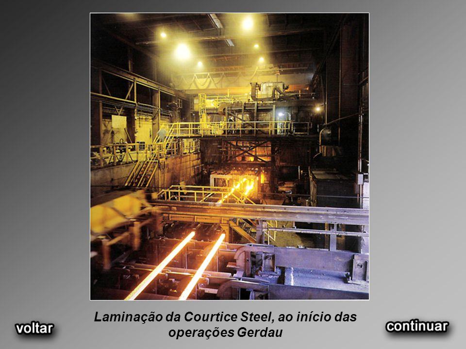 Laminação da Courtice Steel, ao início das operações Gerdau