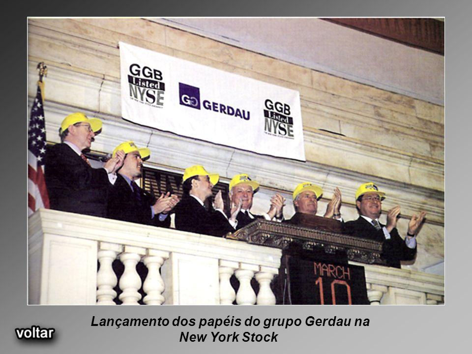 Lançamento dos papéis do grupo Gerdau na New York Stock