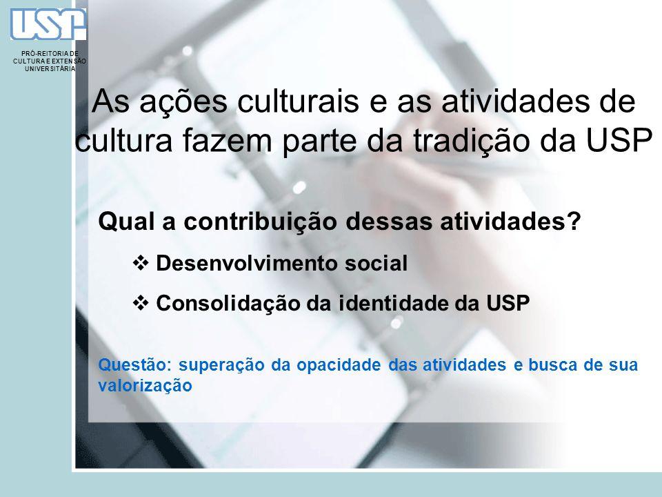 PRÓ-REITORIA DE CULTURA E EXTENSÃO UNIVERSITÁRIA A avaliação das atividades de cultura e de extensão universitária Parte constitutiva das diretrizes da PRCEU Por quê.