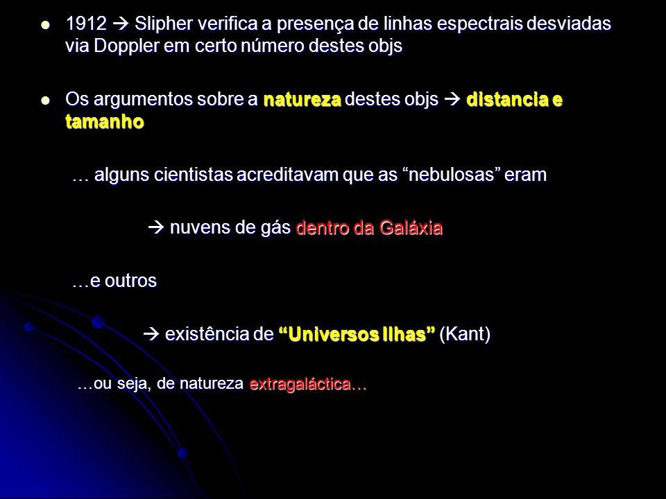 Se estamos observando objetos a profundidades muito grandes, estamos observando objetos que existiram enquanto o Universo era ainda jovem..então é possível que eles sejam os núcleos de galáxias jovens, vistas a bilhões de anos atrás...
